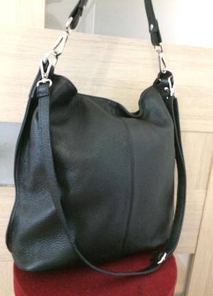 Шикарная большая сумка 100% кожа