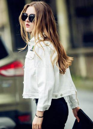 Белая джинсовка,пиджак,ветровка,mexx