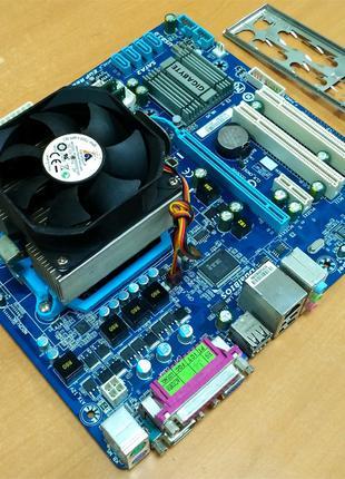 Комплект MB GIGABYTE +CPU +Cooler+RAM / 3 ядра по 3.1GHz, 8GB RAM