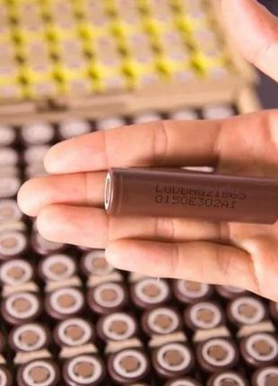 Аккумуляторы Вейп, сигареты с Гарантией 18650 LG HG2 3000 мАh