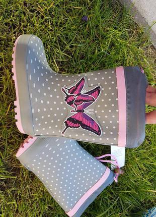 Резиновые сапоги  biki для девочки