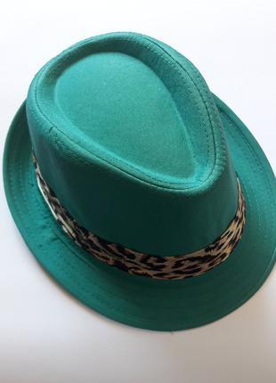 Шляпа детская бирюзового цвета. Кепка. Размер 52см