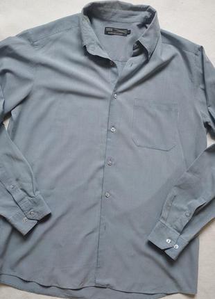 """Рубашка в мелкую клетку приглушенного синего цвета """"m&s"""" soft ..."""