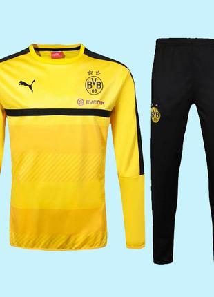 Детский тренировочный костюм для футбола боруссия дортмунд pum...