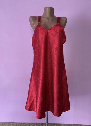 Стильная красная пижама летняя сексуальная под платье красивая