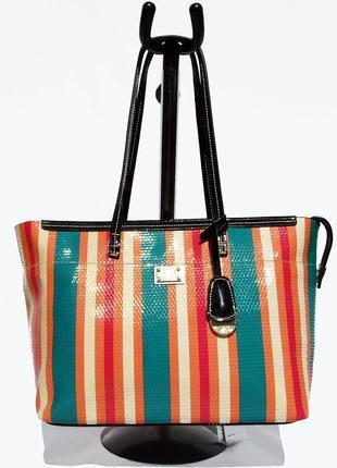 Velina fabbiano. натуральная кожа. элитная сумка, полосатая но...