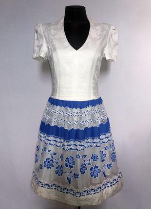 Дешево. стильное платье, кружевной орнамент. турция. новое, р....