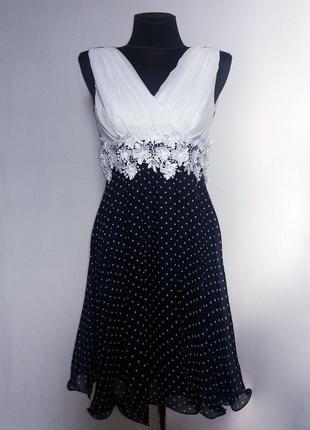 Суперцена. красивое двухцветное платье. горошек. турция. новое...