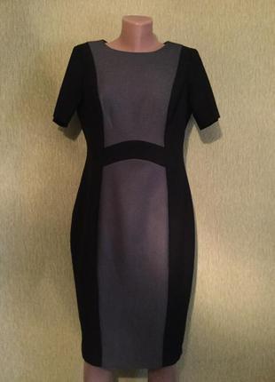Платье комбинированное классическое f&f размер 12