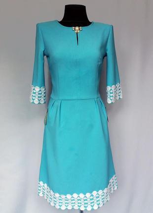 Суперцена. стильное платье, кружево. турция. новое, р . 42-44