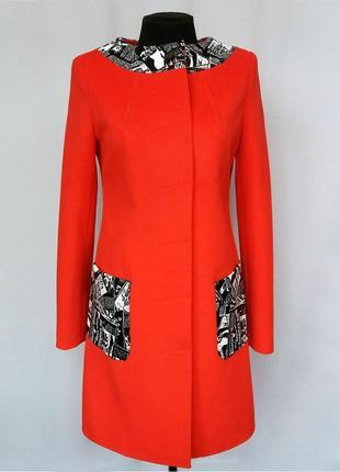 Новинка. элитное пальто, модные вставки. дорогая моделька. нов...