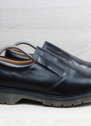 Мужские кожаные туфли лоферы solovair, размер 43 (dr. martens)