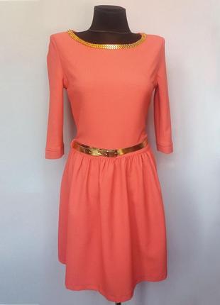 Суперцена. стильное платье с цепочкой, кружевная вставка. ново...