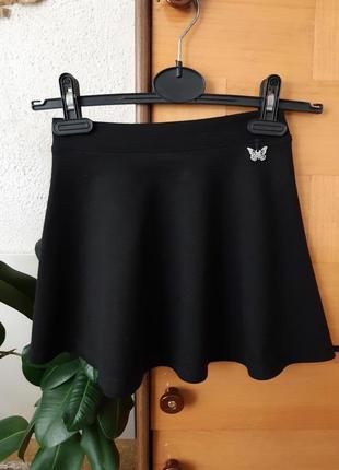 Трикотажная юбочка для маленькой школьницы