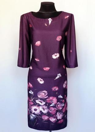 Суперцена. стильное платье, цветы на фиолетовом. турция. новое...