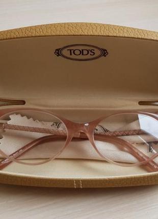 Новая оправа tod's очки пудра кошачий глаз кожа премиум cat ey...