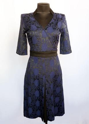Суперцена. стильное платье, синий орнамент на черном. турция. ...