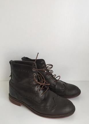 Кожаные ботинки челси на шнурках marc o polo