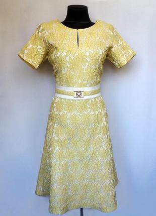Суперцена. стильное платье. жаккардовая текстура, ромашка. тур...