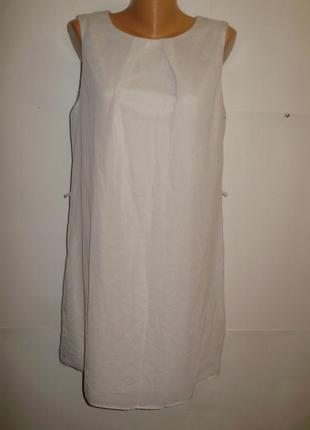 Новое нежное шифоновое платье в горошек 16/50-52 размера