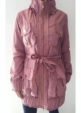 Пальто, плащ, приємного рожевого кольору, стильное пальто нежн...