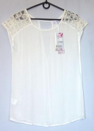 Суперцена. стильная блуза футболка. белая. новая, р. s-xl