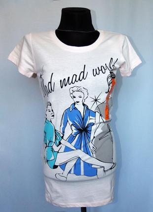 Atmosphere. классная футболка, хлопок. стильный рисунок. новая...
