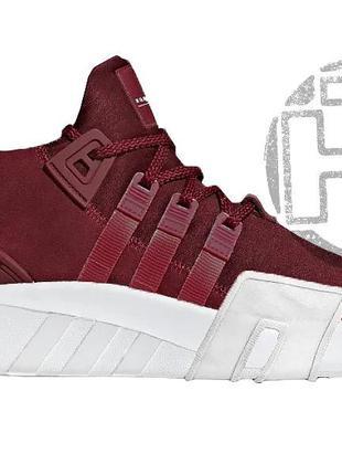 "Мужские кроссовки adidas eqt bask adv ""noble maroon"" red white..."