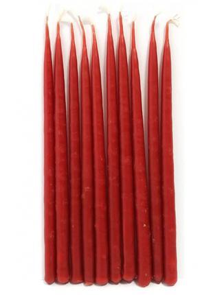 Свечи маканые красные 10 шт