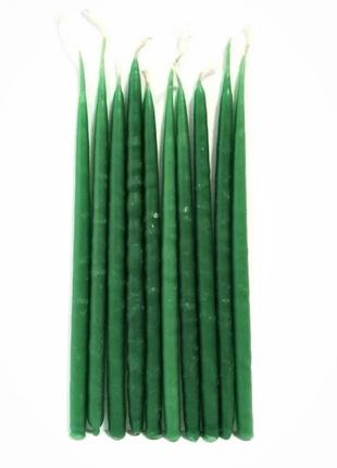 Свечи маканые зеленые 10 шт