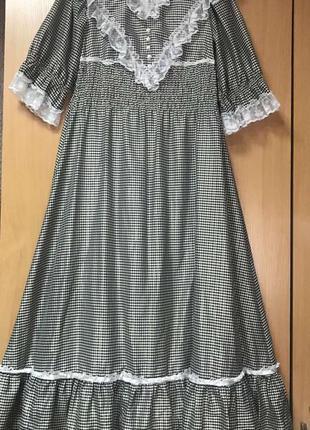 Винтажное,платье для фотосессии,платье с рюшами ,платье в пол ...