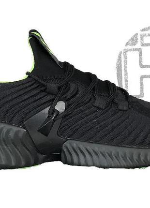 Женские кроссовки adidas alphabounce instinct cloud black green