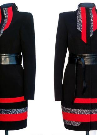 Новинка. элитное пальто, яркие вставки. шикарная моделька. нов...