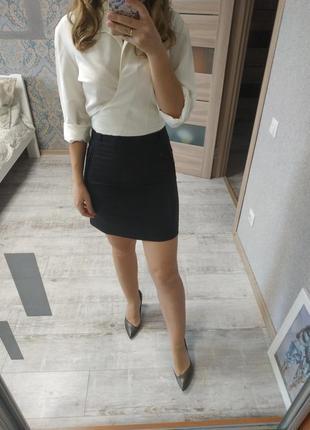 Стильная короткая юбка трапеция