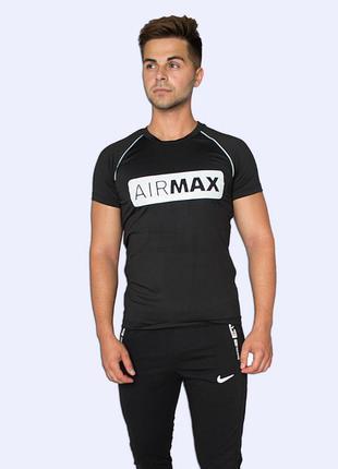 Мужская спортивная футболка nike черная
