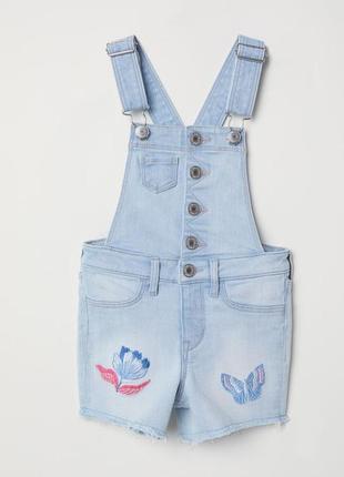 Комбинезон джинсовый шорты ромпер 6-7 h&m
