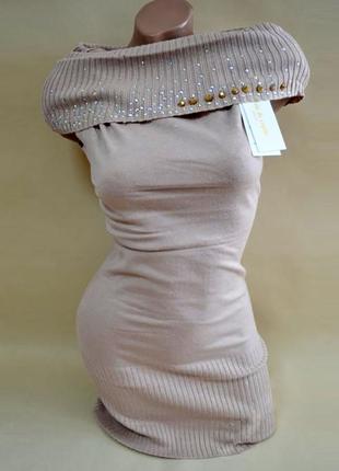 Суперцена. эффектное платье. хомут. стразы и шипы. новое. фран...