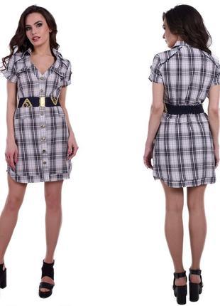 Новинка. оригинальное молодежние платье. рубашечный стиль, кле...