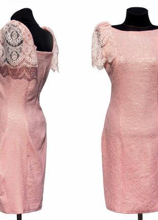 Новинка. нарядное платье, жаккардовая ткань. кружево. новое, р...