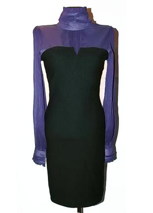 Красивое платье, комбинированный фасон. турция. новое, р. 42