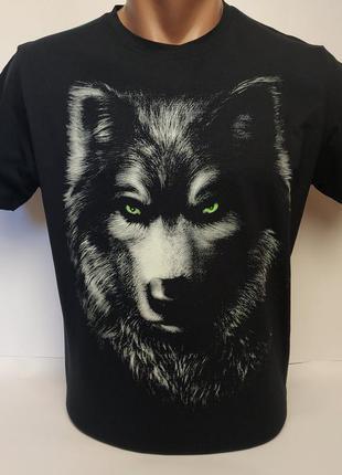 Стильные футболки, светящийся рисунок, отличного качества