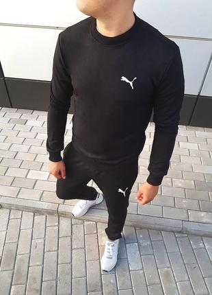 Чёрный спортивный костюм на лето