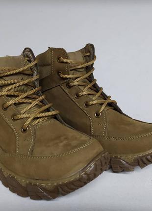 Мужские тактические демисезонные ботинки бежевые