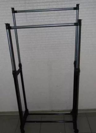 Складная 30 кг Double Pole Напольная Вешалка для одежды