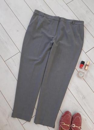 Лаконичные базовые   укороченныем брюки  на высокой посадке