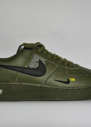 Кроссовки nike мужские кожаные зеленые