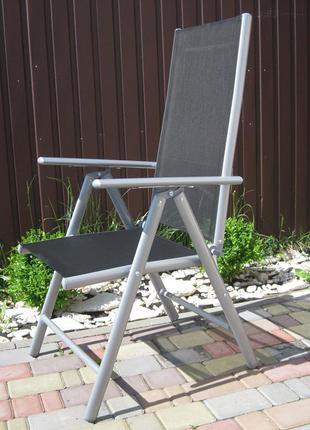 Крісло розкладне для відпочинку алюмінієве.