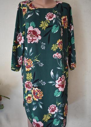 Красивое платье с принтом большого размера dorothy perkins