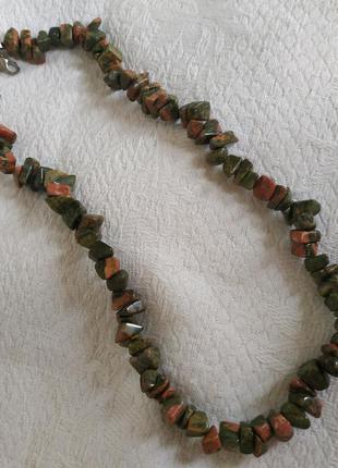 Ожерелье бусы 🙂😊😗😌🙃😁😄 📿 из натурального💚🧡💚 камня🧡💚🧡
