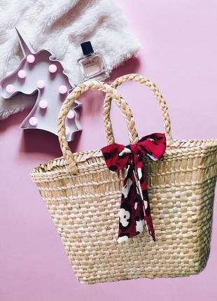 Новая соломенная плетеная сумка{корзинка} ручная работа
